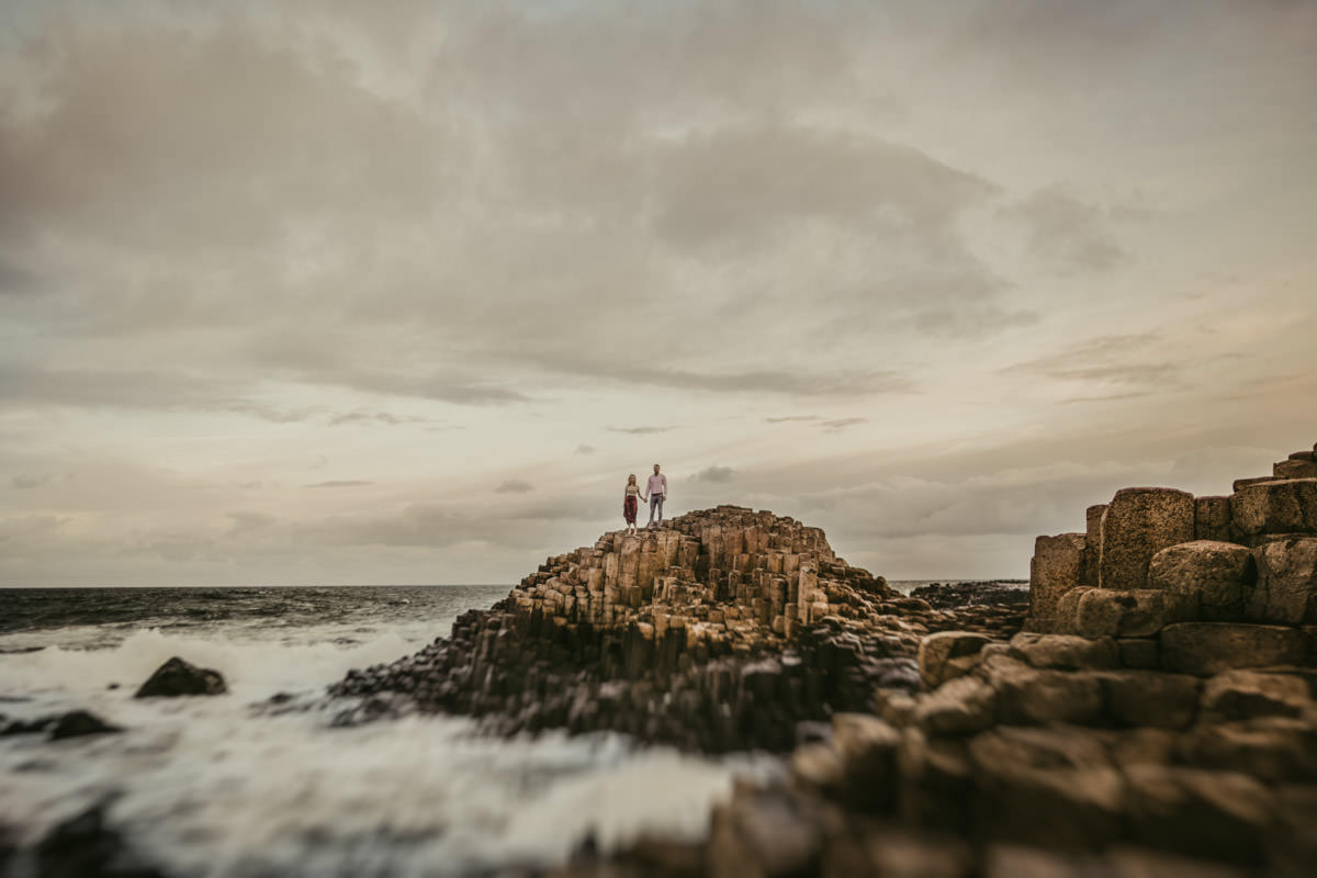 Alexander_and_Eve_woodland_engagement_session_giants_causeway